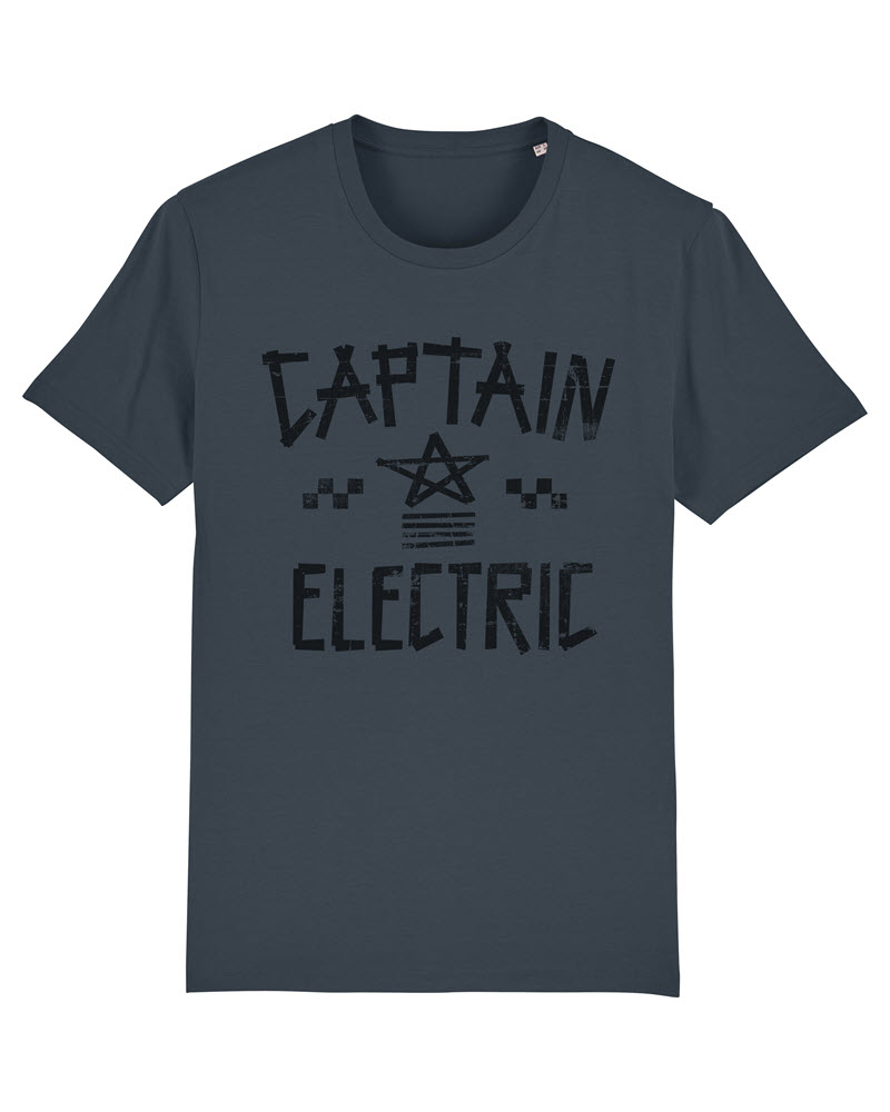 """T-Shirt """"Captain Electric"""" india ink grey with black print"""